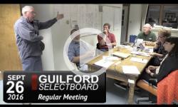 Guilford Selectboard Mtg 9/26/16