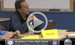 Brattleboro Union High School Bd. Mtg 10/20/14