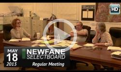 Newfane Selectboard Mtg 5/18/15