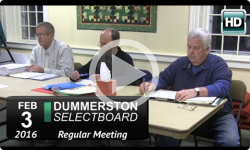 Dummerston Selectboard Mtg 2/3/16