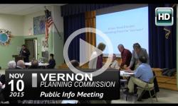 Vernon Planning Commission: Public Info Mtg 11/10/15