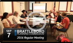 Brattleboro Planing Commission Mtg 9/7/16