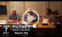 Putney Selectboard Mtg 6/7/18