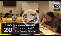 Brattleboro Town School Bd Mtg 8/20/15