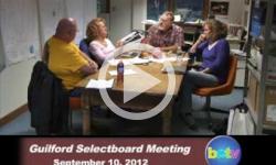 Guilford Selectboard Mtg. 9/10/12