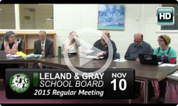 Leland & Gray School BoardMtg 11/10/15