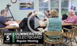 Dummerston Selectboard Mtg 6/5/19