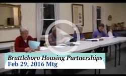 Brattleboro Housing Partnerships Mtg. 2/29/16