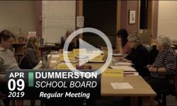 Dummerston School Bd Mtg 4/9/19