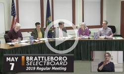 Brattleboro Selectboard Mtg 5/7/19