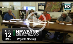 Newfane Selectboard Mtg 8/12/15