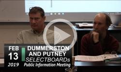 Dummerston SB and Putney SB Joint Mtg 2/13/19