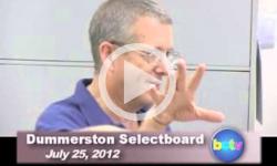 Dummerston SB Mtg. 7/25/12
