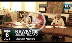 Newfane Selectboard Mtg 6/6/16