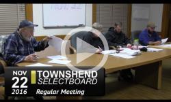 Townshend Selectboard Mtg 11/22/16