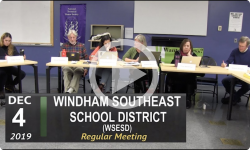 Windham Southeast School District (WSESD) Board Mtg 12/4/19