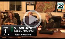 Newfane Selectboard Mtg 2/1/16
