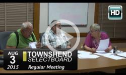 Townshend Selectboard: 8/3/15