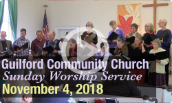 Guilford Church Service - 11/4/18