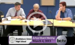 Brattleboro Union High School Bd. Mtg. 3/18/13