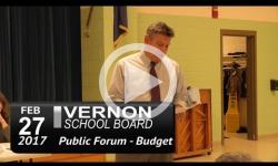 Vernon School Bd - Public Info Mtg: Budget 2/27/17