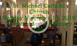 Mass from Sunday, November 18, 2018
