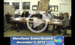 Newfane Selectboard Mtg. 11/1/12