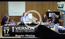 Vernon Selectboard Mtg 8/17/15