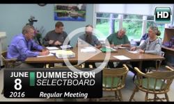 Dummerston Selectboard Mtg 6/8/16