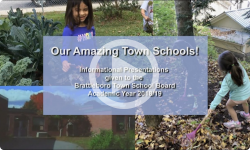 Our Amazing Town Schools 2018-2019: Town Rep Info Meeting