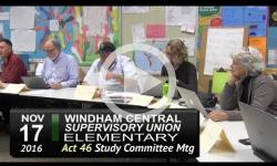 WCSU Elementary School Act 46 Sudy Committee Mtg 11/17/16
