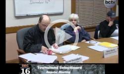 Townshend Selectboard Mtg. 12/16/13