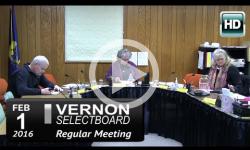 Vernon Selectboard Mtg 2/1/16