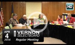 Vernon Selectboard Mtg 4/4/16