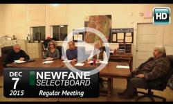 Newfane Selectboard Mtg 12/7/15