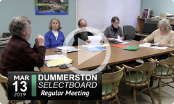 Dummerston Selectboard Mtg 3/13/19