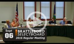 Brattleboro Selectboard Mtg 9/6/16
