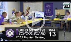 BUHS School Board Mtg 7/13/15