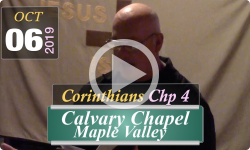 Calvary Chapel: Corinthians Chp 4