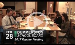 Dummerston School Bd Mtg 2/28/17