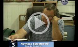 Newfane Selectboard Mtg. 10/3/13