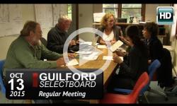 Guilford Selectboard Mtg 10/13/15