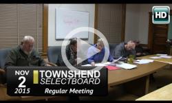 Townshend Selectboard: 11/2/15