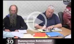 Dummerston Selectboard Mtg. 10/30/13