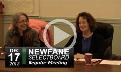 Newfane Selectboard Mtg 12/17/18