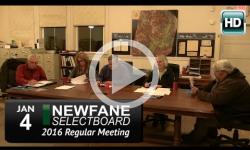 Newfane Selectboard Mtg 1/4/16