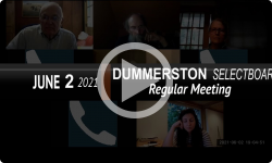 Dummerston Selectboard: Dummerston SB Mtg 6/2/21