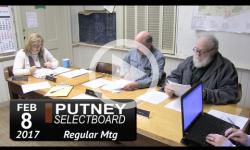 Putney Selectboard Mtg 2/8/17