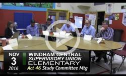 WCSU Elementary Act 46 Mtg 11/3/16