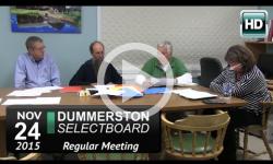 Dummerston Selectboard Mtg 11/24/15